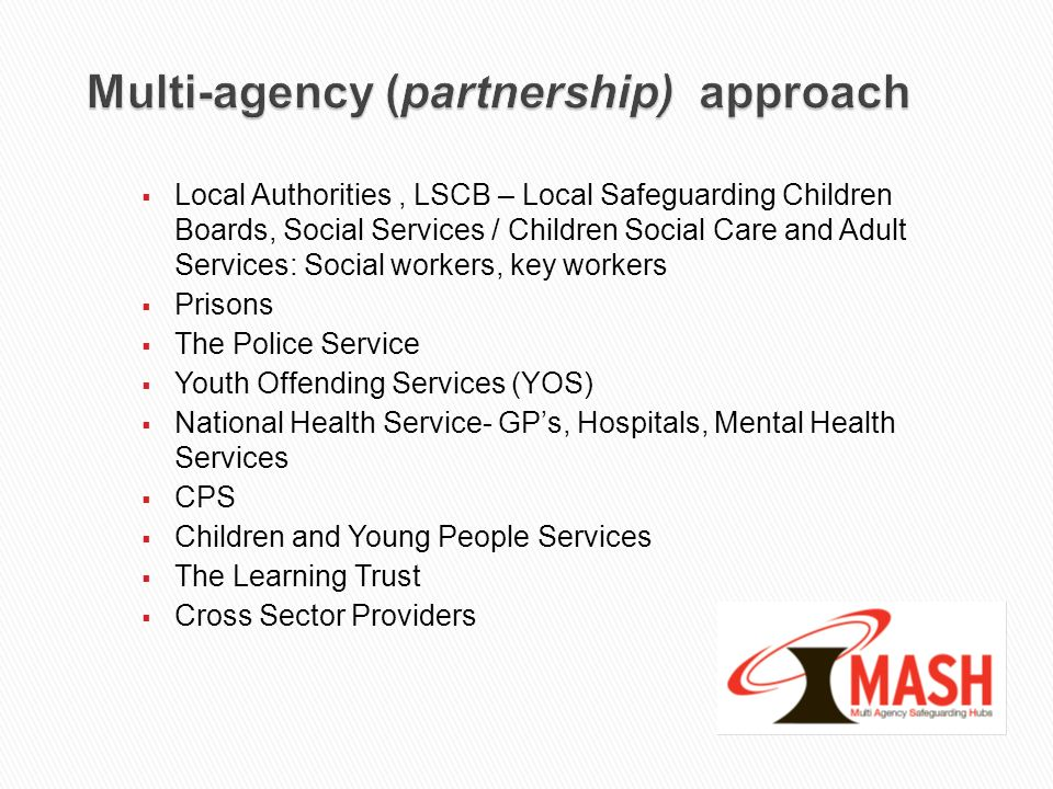 Multi-agency (partnership) approach