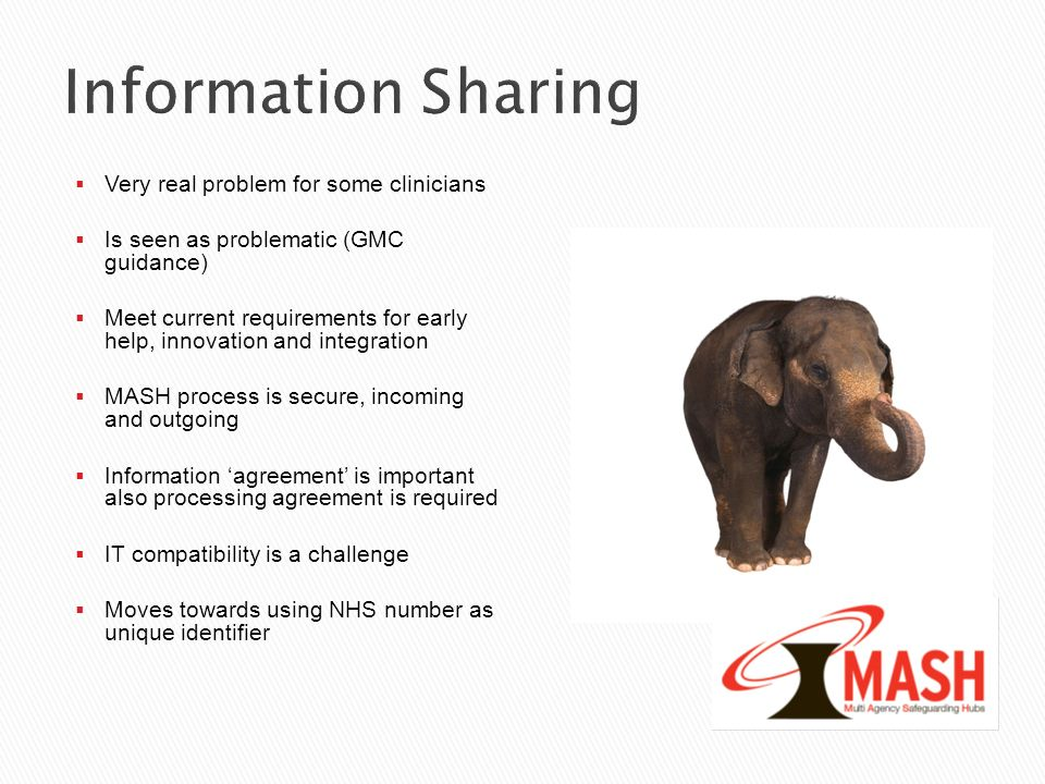 Information Sharing Very real problem for some clinicians