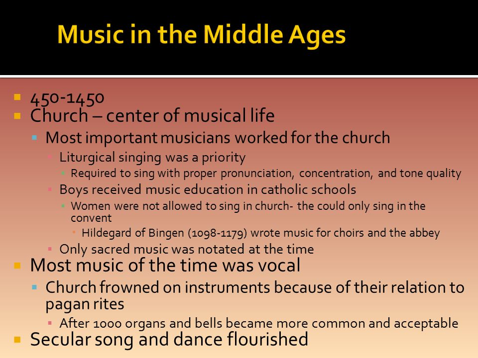 Education of the middle ages