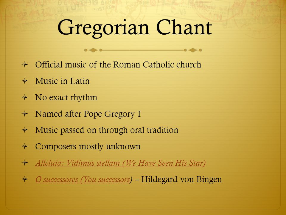 Music in the Middle Ages - ppt video online download