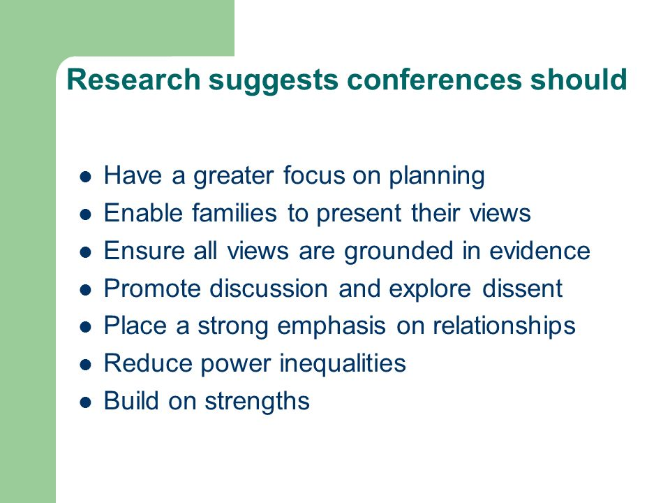 Research suggests conferences should