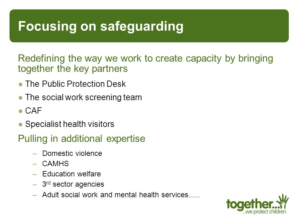 Focusing on safeguarding