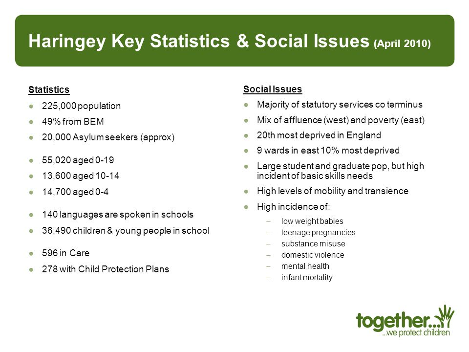 Haringey Key Statistics & Social Issues (April 2010)