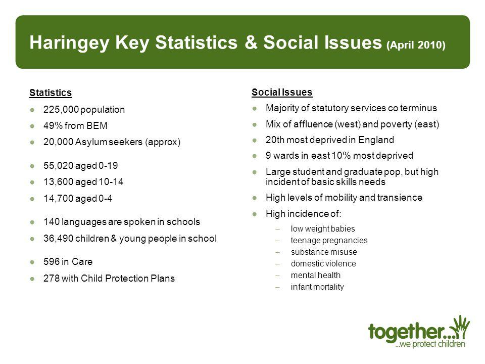 Haringey Key Statistics & Social Issues (April 2010)