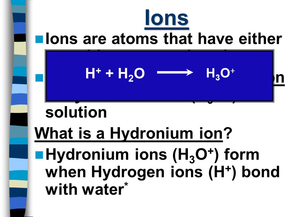 Ions Ions are atoms that have either a positive or negative charge.