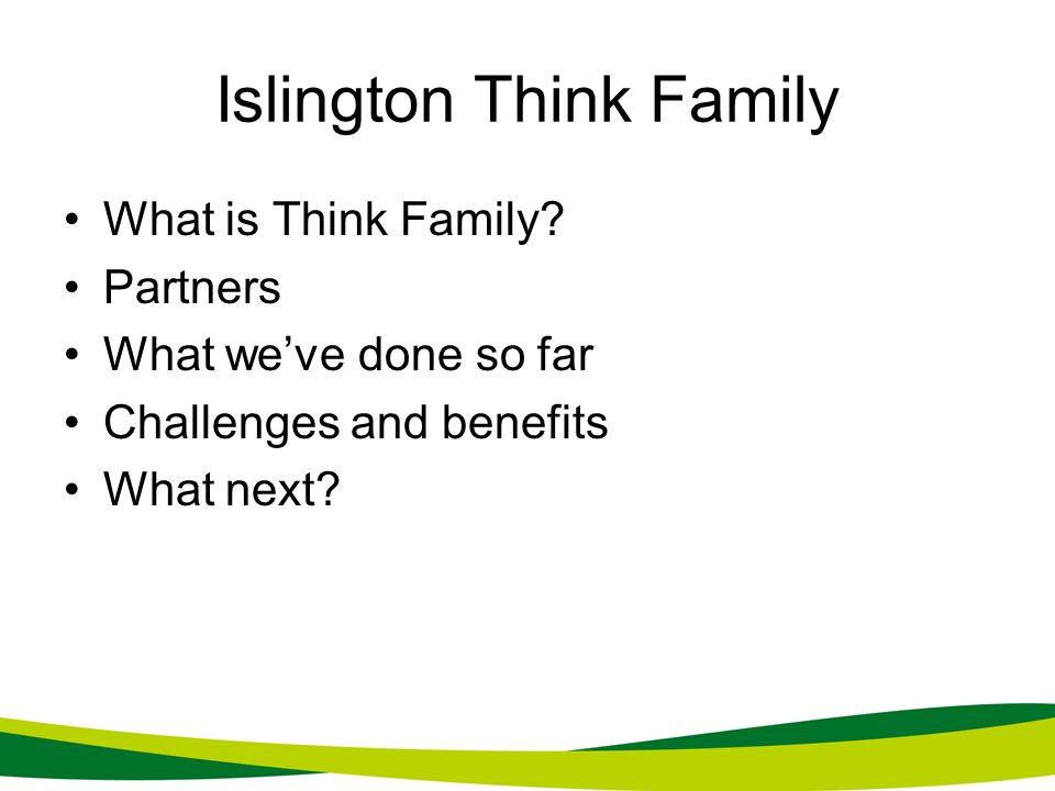 Islington Think Family