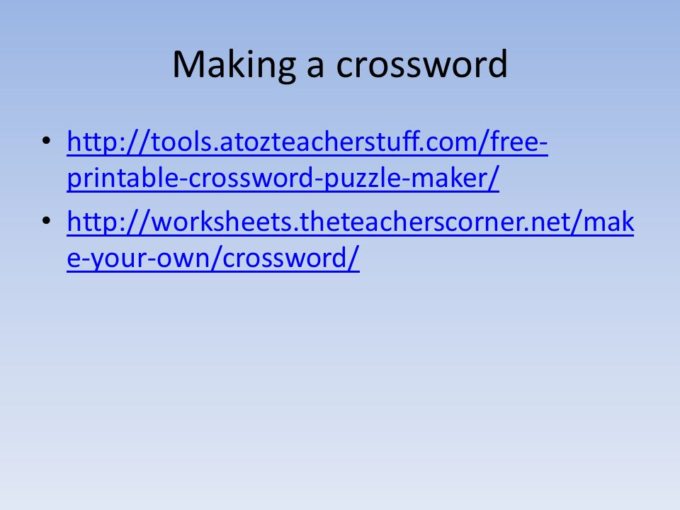 Interesting Making A Crossword With Free Printable Puzzle Maker