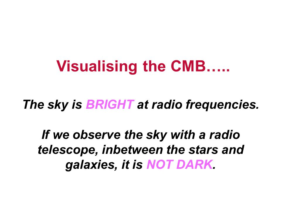 Visualising the CMB…..