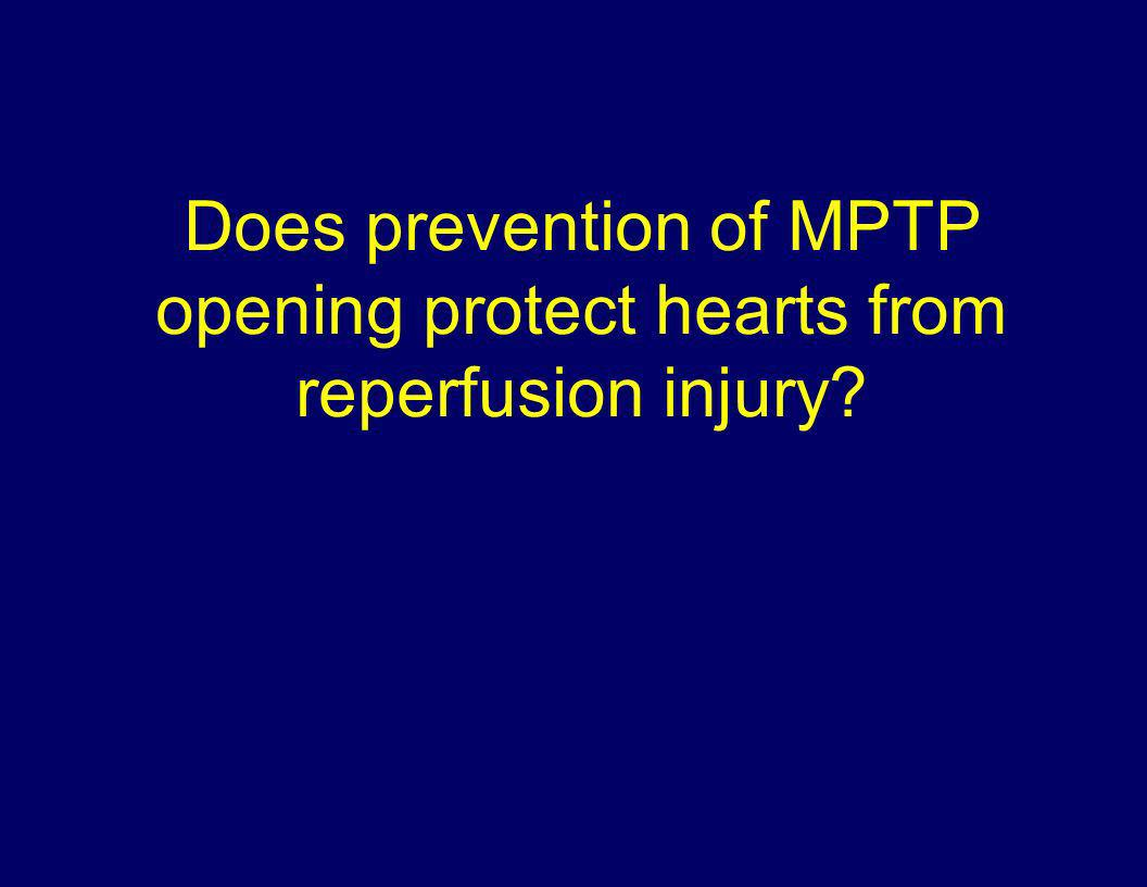 Does prevention of MPTP opening protect hearts from reperfusion injury