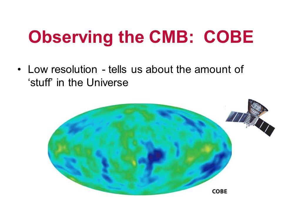 Observing the CMB: COBE