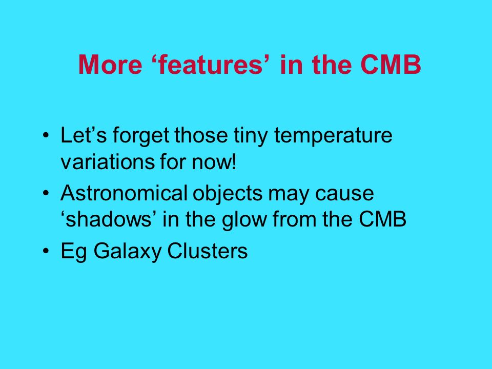 More 'features' in the CMB