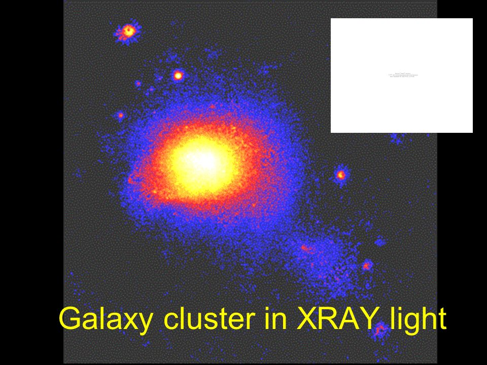 Galaxy cluster in XRAY light