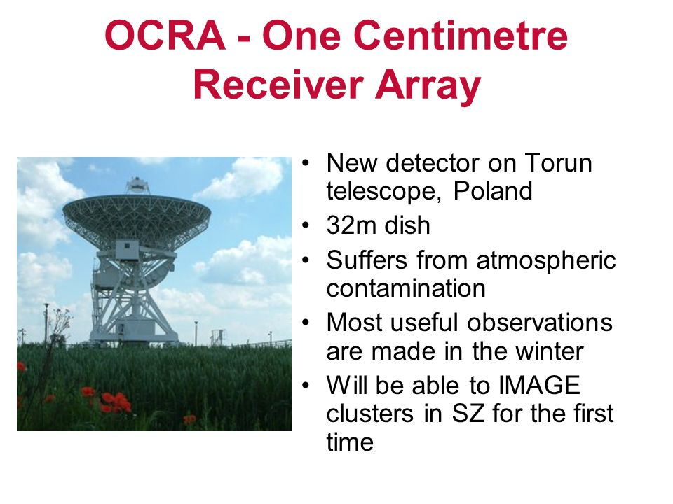 OCRA - One Centimetre Receiver Array