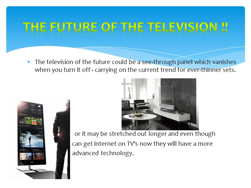 television technology ppt video online download