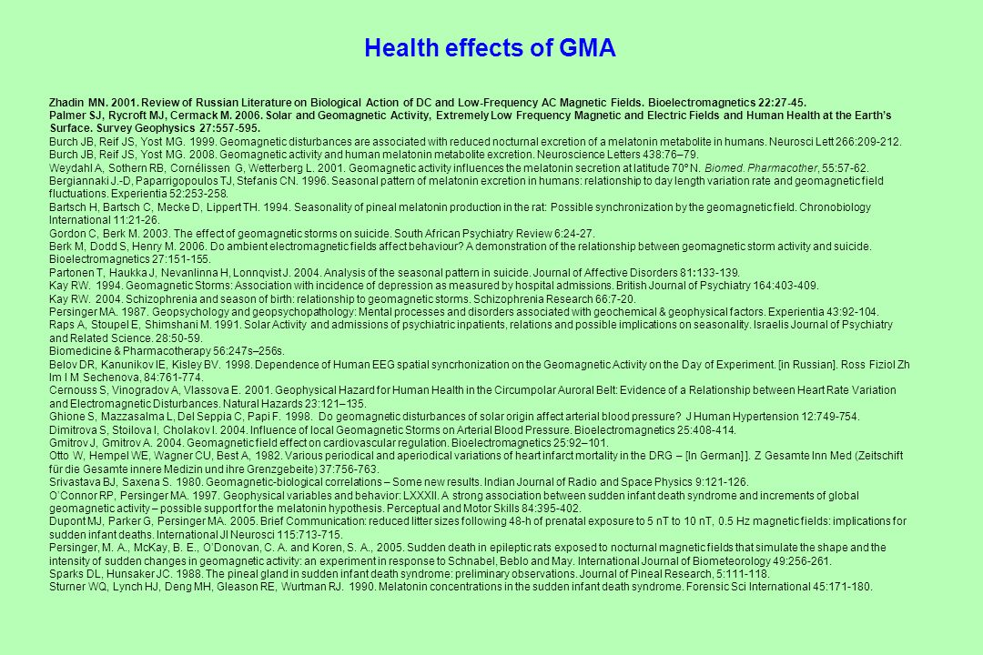 Health effects of GMA