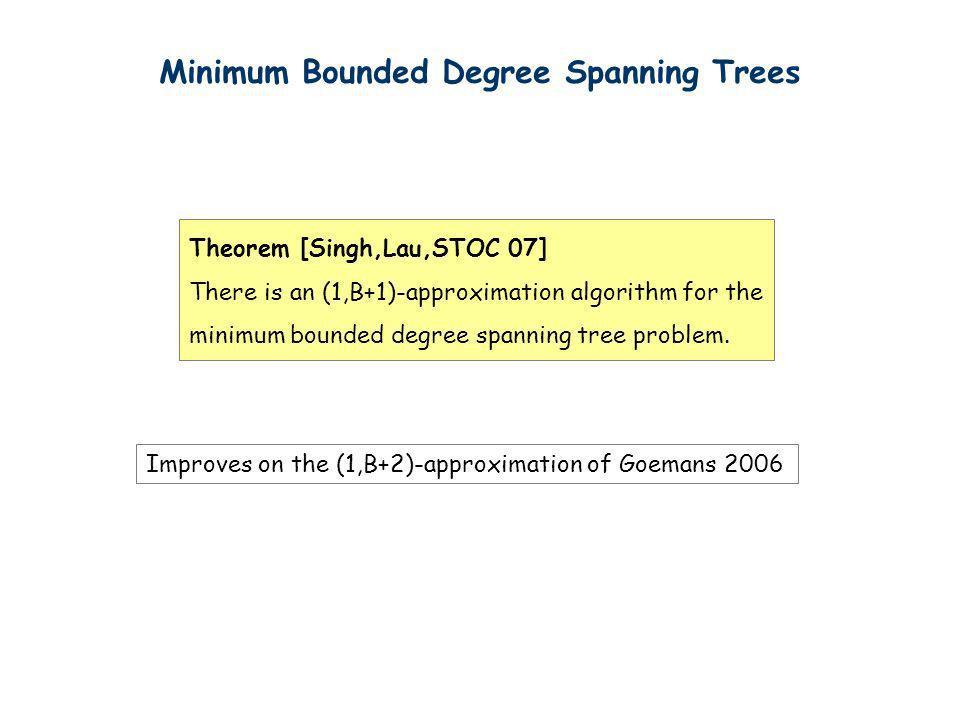 Minimum Bounded Degree Spanning Trees