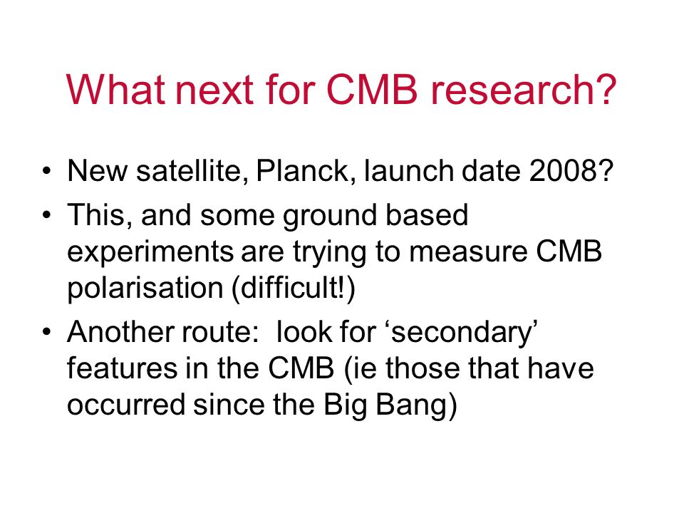 What next for CMB research