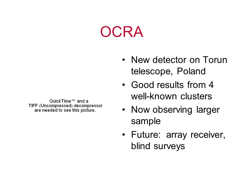 OCRA New detector on Torun telescope, Poland