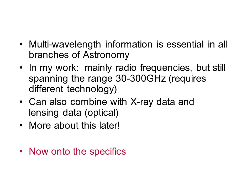 Multi-wavelength information is essential in all branches of Astronomy