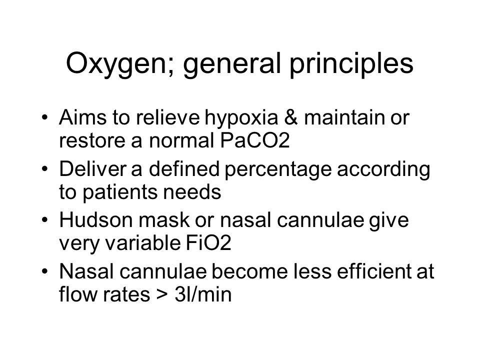 Oxygen; general principles