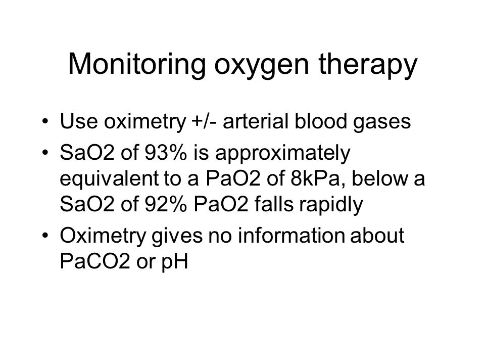 Monitoring oxygen therapy