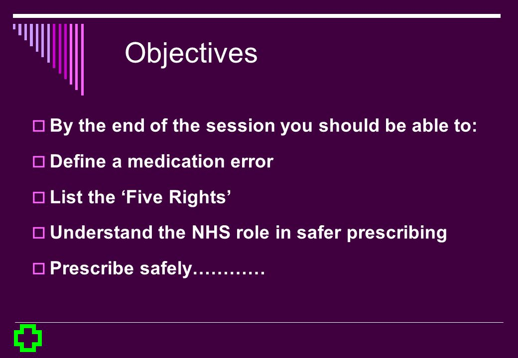 Objectives By the end of the session you should be able to: