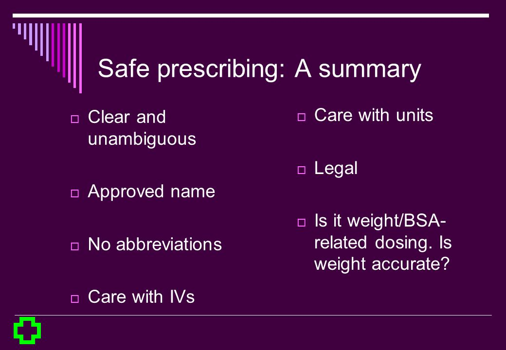 Safe prescribing: A summary