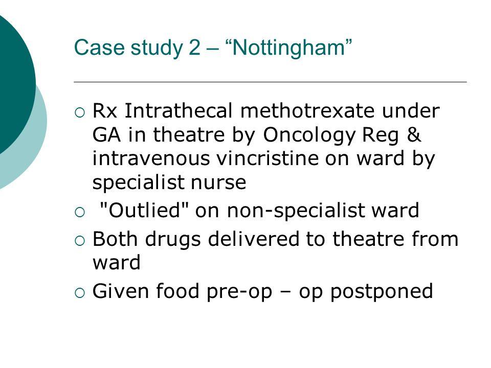 Case study 2 – Nottingham