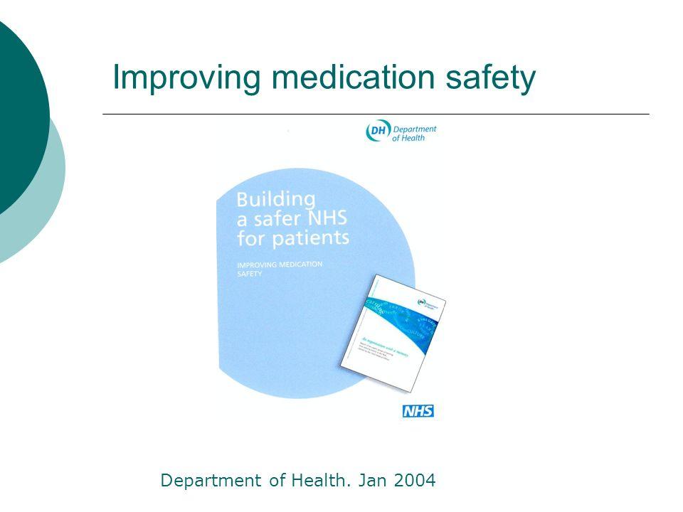 Improving medication safety