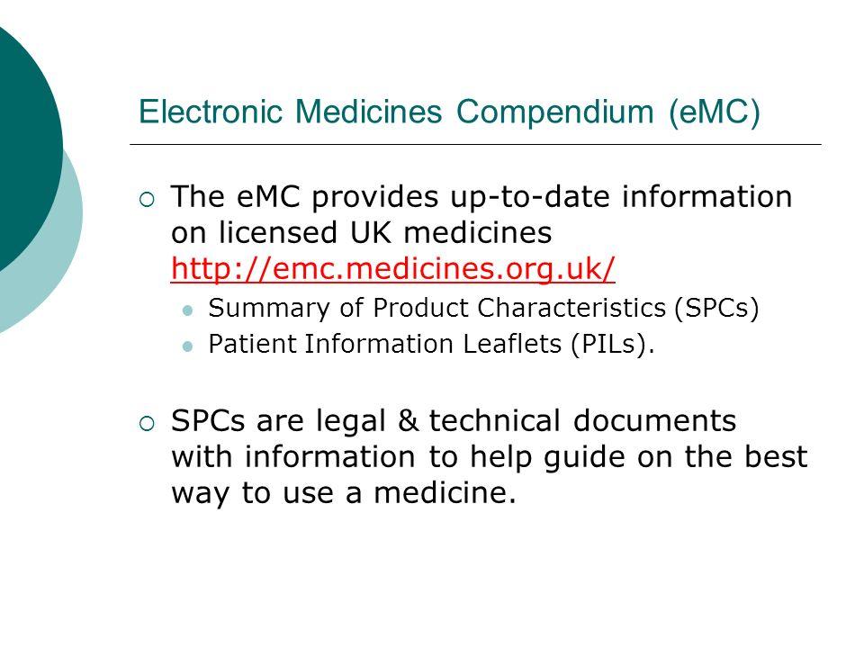Electronic Medicines Compendium (eMC)