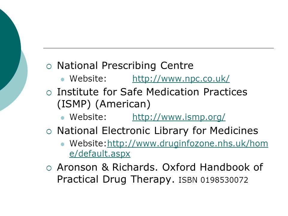 National Prescribing Centre