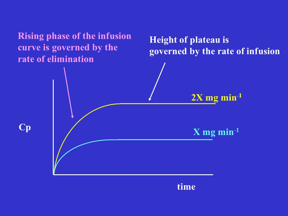 Rising phase of the infusion