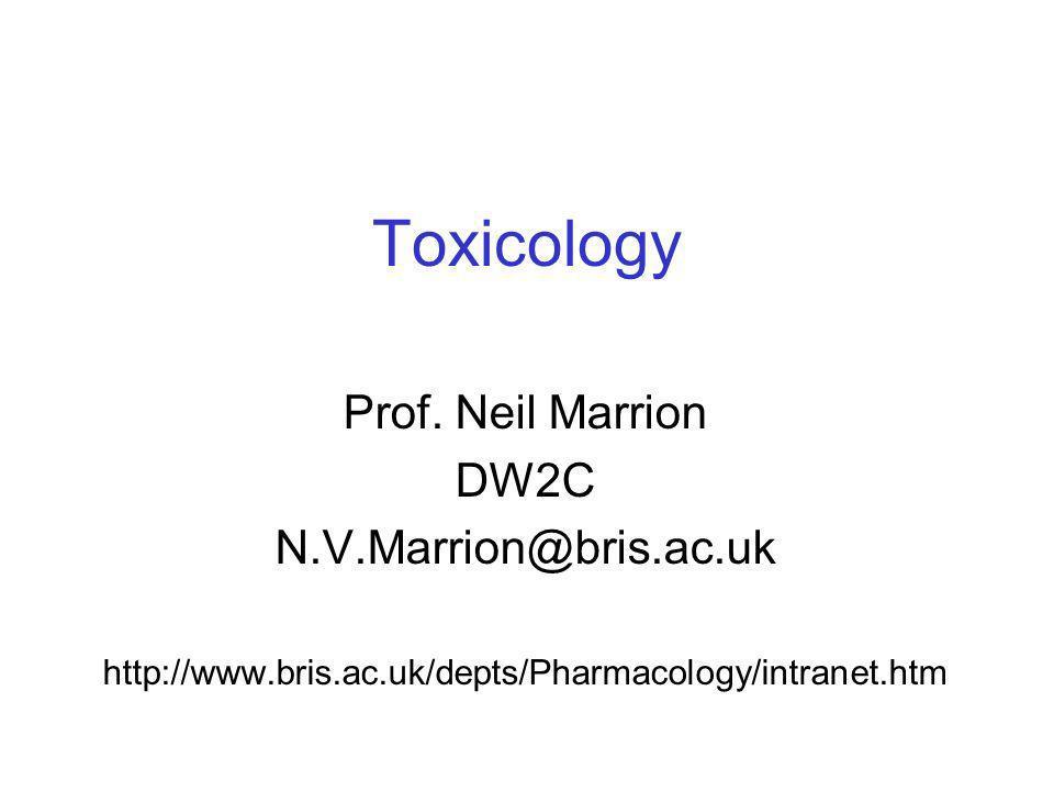 Toxicology Prof. Neil Marrion DW2C N.V.Marrion@bris.ac.uk