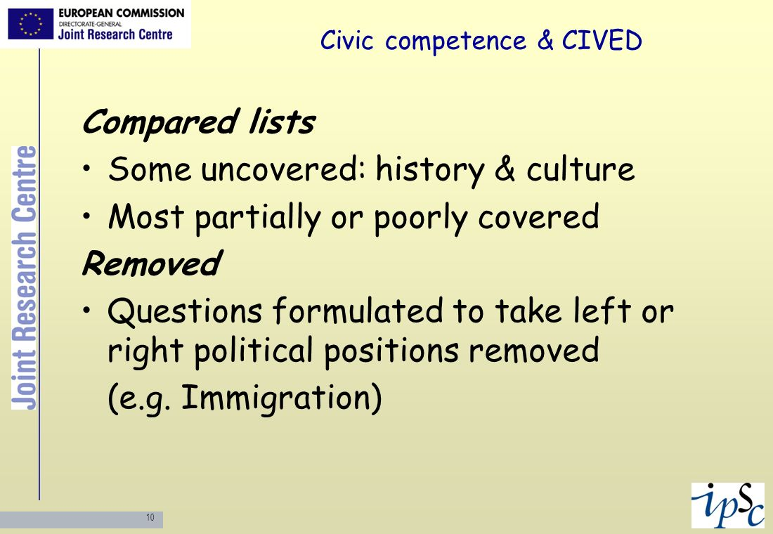 Civic competence & CIVED
