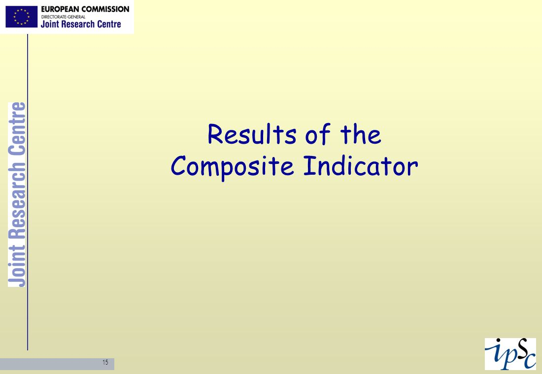 Results of the Composite Indicator
