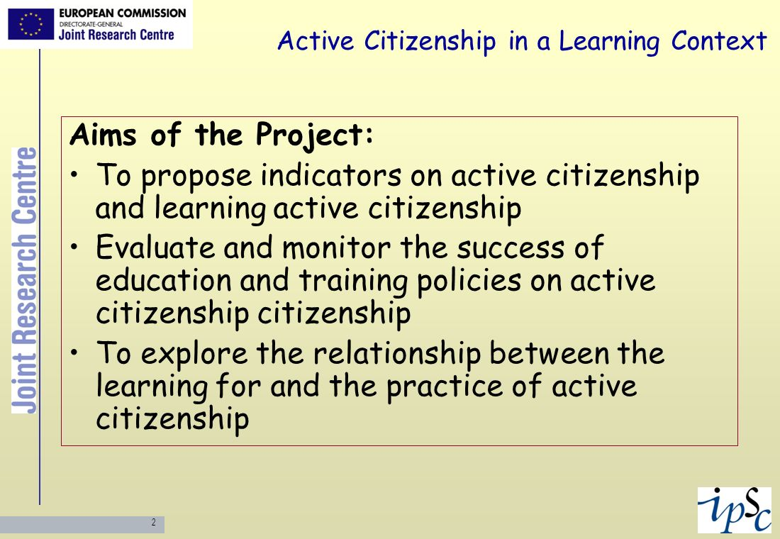Active Citizenship in a Learning Context