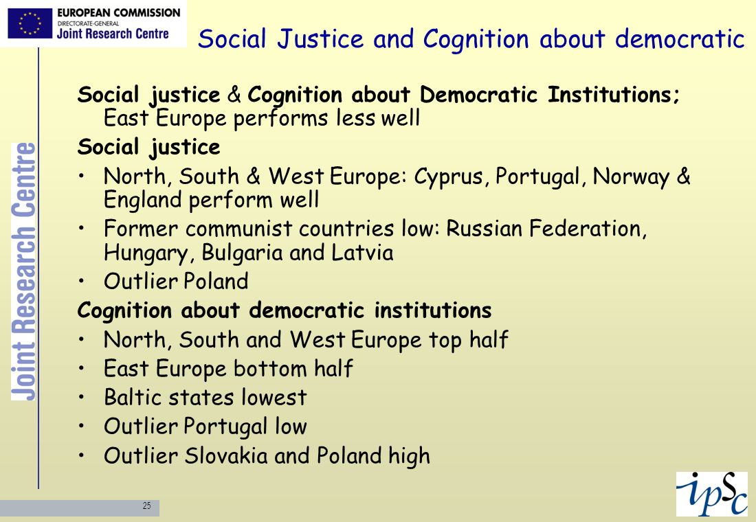 Social Justice and Cognition about democratic