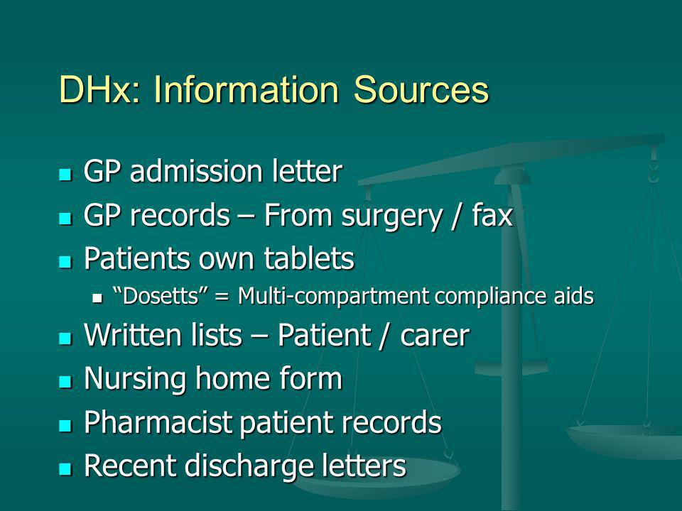 DHx: Information Sources