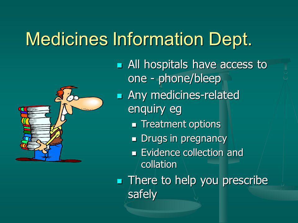 Medicines Information Dept.