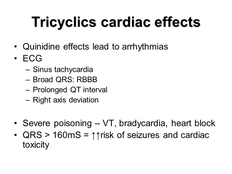 Tricyclics cardiac effects