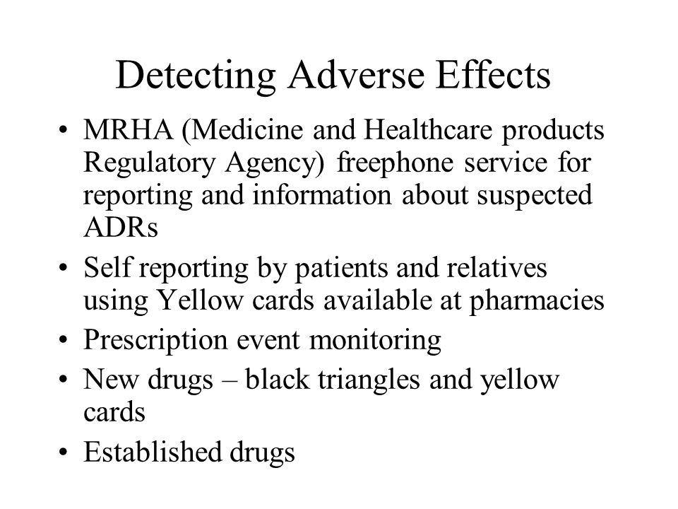Detecting Adverse Effects