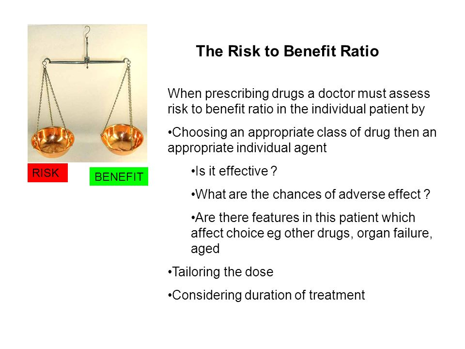 The Risk to Benefit Ratio
