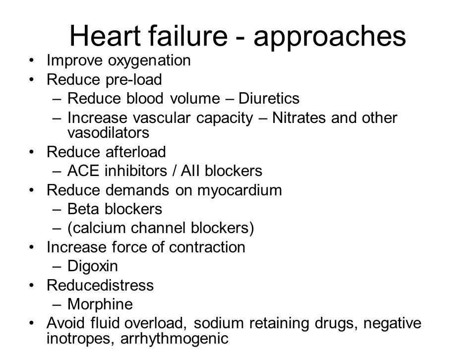 Heart failure - approaches