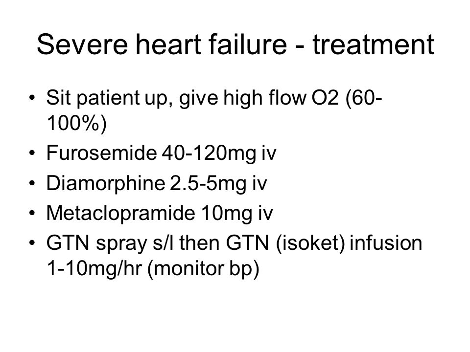 Severe heart failure - treatment