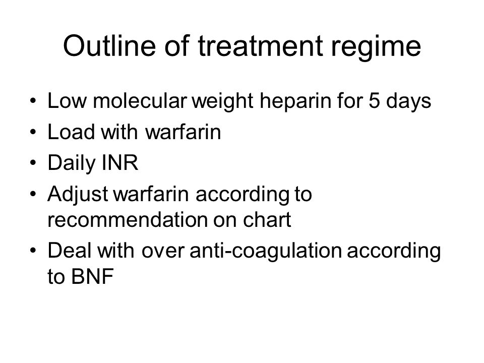 Outline of treatment regime