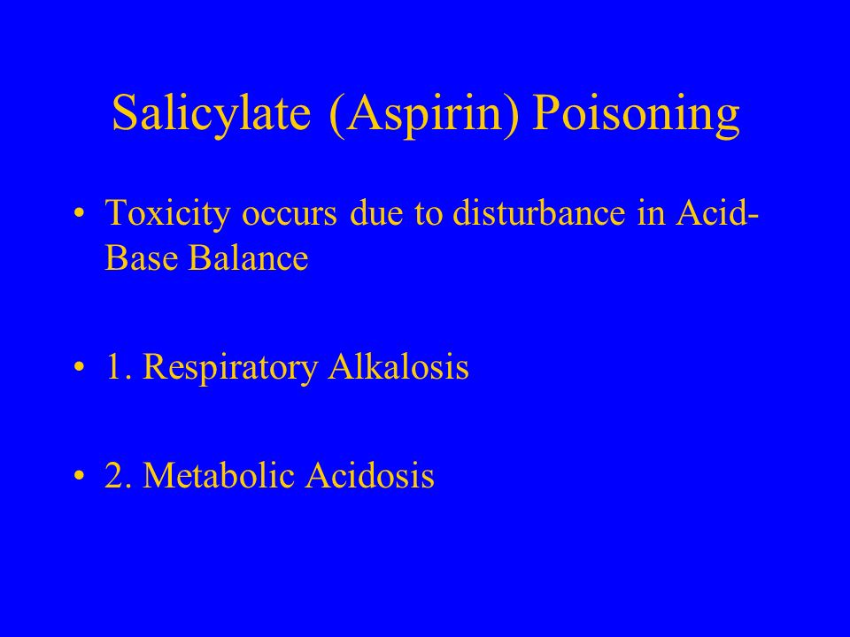 Salicylate (Aspirin) Poisoning