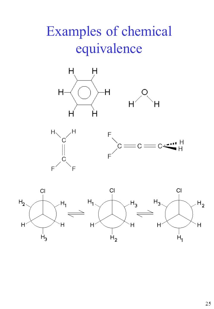 Examples of chemical equivalence