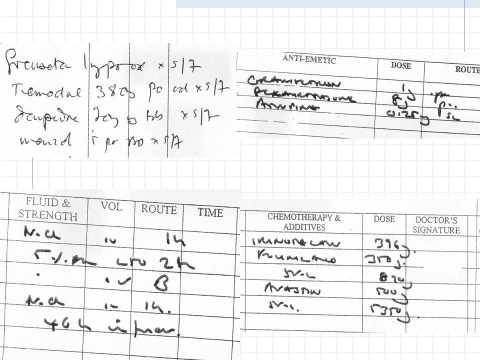 TL TR Granisetron 1mg. Dexamethasone 8mg. BL NaCl (Sodium Chloride 0.9%) 1 litre 1 hour. 5% dextrose 250ml 2 hour.