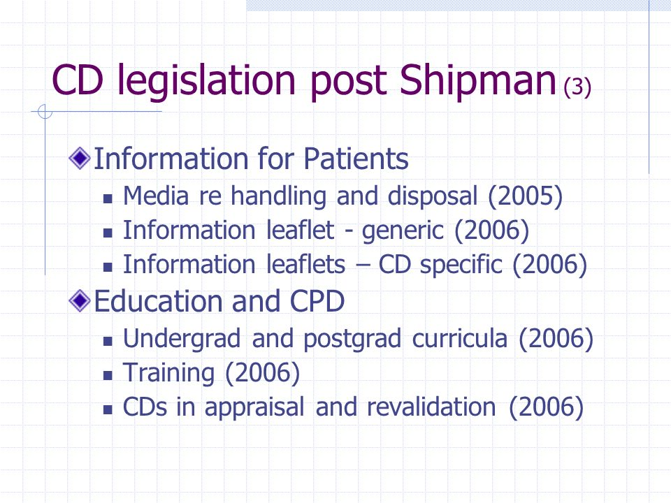 CD legislation post Shipman (3)
