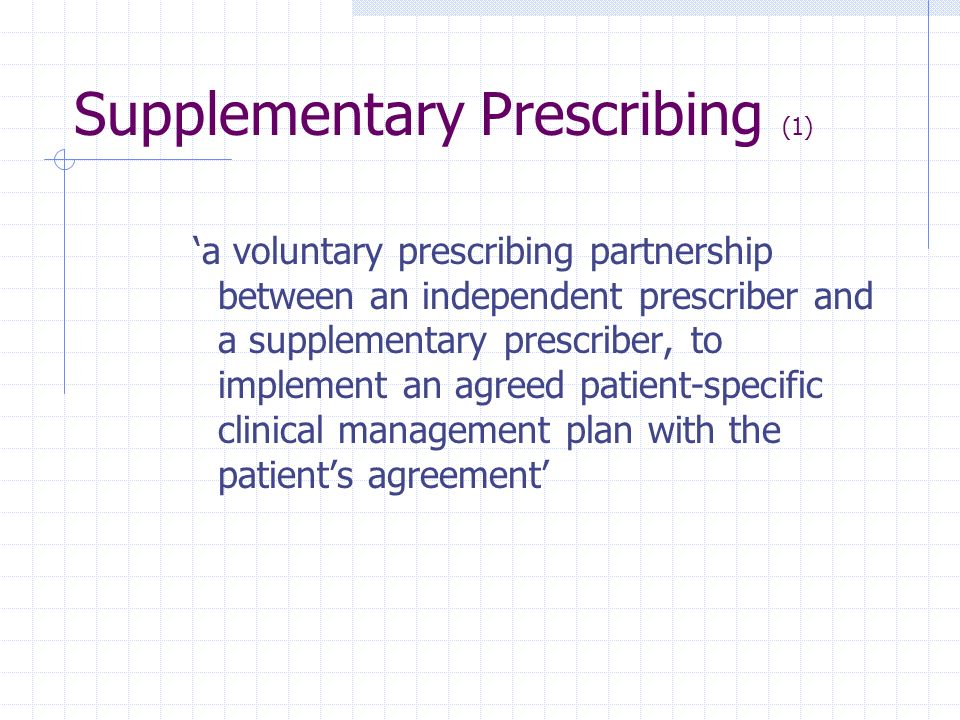 Supplementary Prescribing (1)